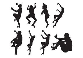 Free Climber Silhouettes Vector
