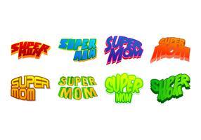Free Super Mom Sticker Vector
