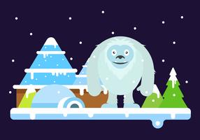 Free Cute Yeti Vector Illustration