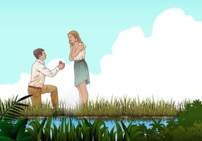 Marry Me Proposal Vector