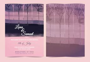 Vector Dark Forest Wedding Invite