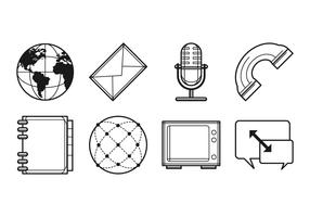 Free Media and Communication Icon Vector