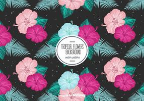 Free Tropical Flowers Background