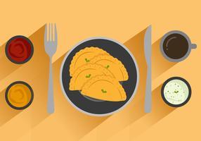 Free Empanadas Vector Illustration