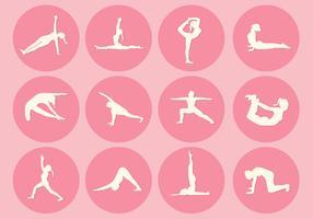 12 Yoga Pose Vectors
