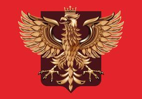 Wood Carving Polish Coat of Arm Vector