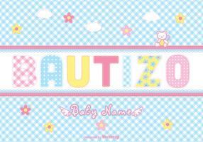Free Bautizo Scrapbook Vector Card