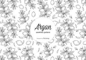 Free Argan Vector Seamless Pattern