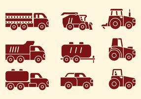 Agriculture Machines Icons