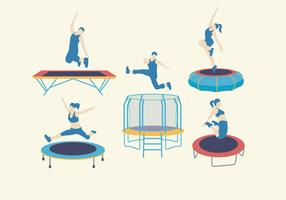 Trampoline Equipment Vector
