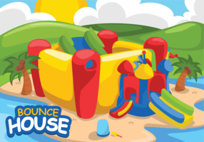Bounce House Vector Illustration