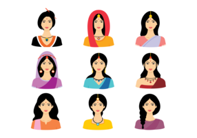 Indian Women Vector