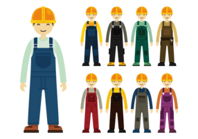 Construction Worker with Overalls