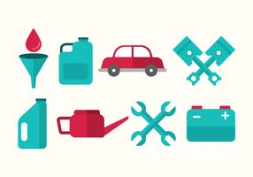 Free Oil Change and Car Mechanic Vector