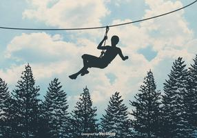 Free Zipline Vector Background