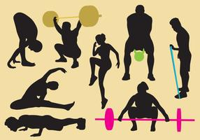 Exercise And Gym Silhouettes