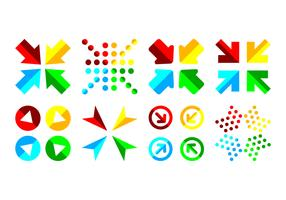 Free Combined Arrow Icon Vector