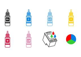 Ink Cartridge Icon Vectors