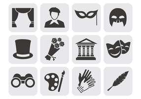 Free Theater Acting Perform Icons Vector