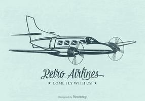Free Retro Airplane Vector Poster