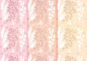 Vector Hand Drawn Floral Patterns