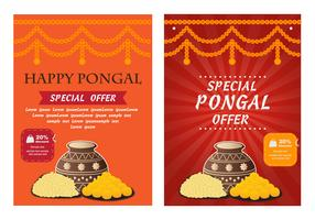 Happy Pongal Poster Flyer Vector
