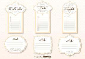 Wedding Organizer Template Vector