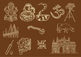 Set Of Mumbai Icon