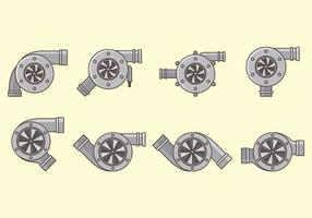 Set Of Turbocharger Vectors