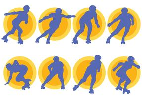 Free Roller Derby Icons Vector