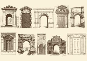 Sepia Doors Portals And Archs