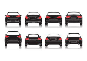 Free Car Rear View Icon Vector