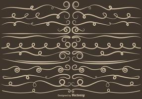 Set Of VECTOR Curly Dividers