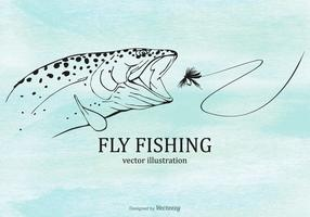 Free Fly Fishing Vector Illustration