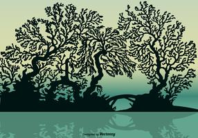 Free Vector Mangrove Silhouette