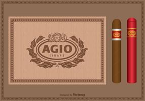 Free Vector Vintage Cigar Label Set