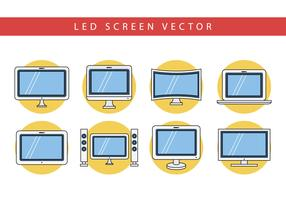 Free Flat LED Screen Vector