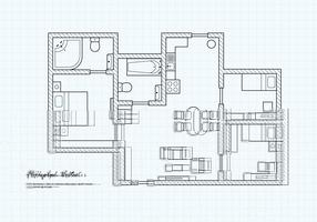 Free Floorplan Of A House Vector