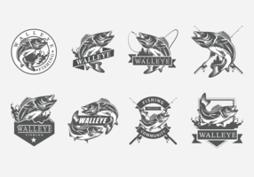 Walleye Vector Labels
