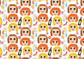 Free Girls Night Pattern Vectors