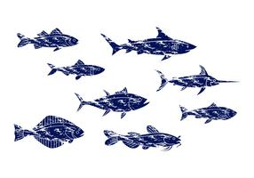 Free Vintage Fish Icon Vector