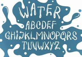 White Water Font Vector Set