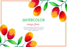 Vector Watercolor Mango Frame