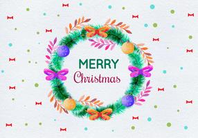 Free Vector Watercolor Christmas Illustration