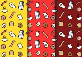 Free Breakfast Pattern Vector
