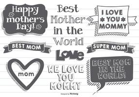 Hand Drawn Mother's Day Labels
