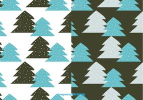 Winter Trees Pattern Vector