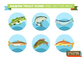 Rainbow Trout Icons Free Vector Pack