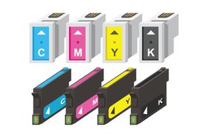 Ink Cartridge CMYK Vectors