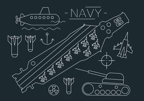 Aircraft Carrier Vector Illustration